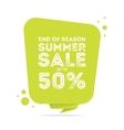 End of season summer big sale banner vector image
