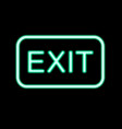 neon exit sign vector image