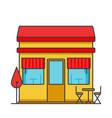 restaurant building flat line vector image