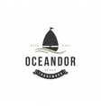Yacht Design Element in Vintage Style for Logotype vector image