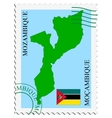 mail to-from Mozambique vector image vector image