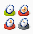clock icon in trendy vector image vector image