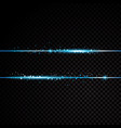 two blue lines with light effects isolated on vector image