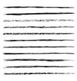 set of brushes isolated on white background vector image