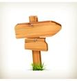 Wooden sign arrow vector image vector image