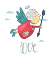 cupid and angel love vector image vector image