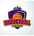 basketball logotemplates of sport t-shirt vector image