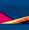 blue digital camouflage vector image