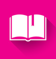 Book logo vector image