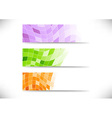 Collection of geometrical headers vector image