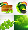 collection of st patricks day background vector image