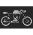hand-painted retro motorcycle vector image