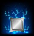 modern generation processor computer technology vector image