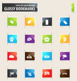 New stiker and label bookmark icons vector image
