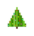 pixel art christmas tree flat vector image