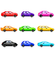 Pixel cars for games icons set vector image