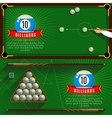 Play Billiards Realistic Compositions vector image