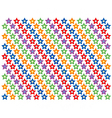 Repeating star pattern background vector image