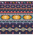 Seamless colorful aztec pattern with birds flower vector image