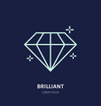 shining brilliant diamond jewelry vector image