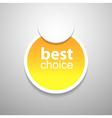 Yellow tag vector image