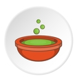 Cauldron of brew icon cartoon style vector image