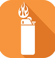 Lighter Icon vector image vector image