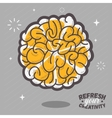 Refresh Your Creativity Human Brain View Combined vector image