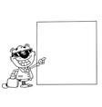 Tiger businessman cartoon vector image
