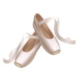 realistic detailed ballet pointe shoes on a white vector image