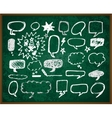 hand-drawn doodles on green school board vector image vector image