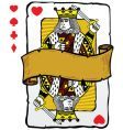 king playing card symbols vector image