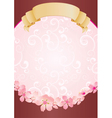 flower scroll vector image vector image