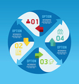 Modern infographics circle design options banner vector image vector image