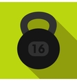 Kettlebell icon in flat style vector image