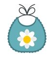 Baby bib icon flat style vector image