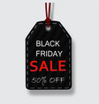 black friday sale price tags for discount vector image