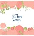 Hand drawn floral border vector image