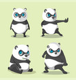 panda cute character collection set vector image