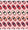 seamless pattern sushi pink vector image