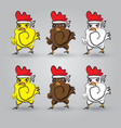 Strong chicken vector image