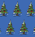 xmas trees forest vector image
