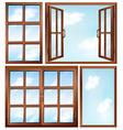 Different window designs vector image