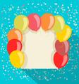 balloons card vector image vector image