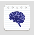 Doodle Brain Icon vector image