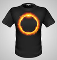 t shirts Black Fire Print man 19 vector image