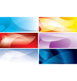 abstract colorful backgrounds with wavy lines vector image