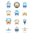Different transportations icons set vector image
