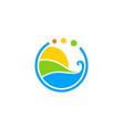 eco water abstract environment logo vector image