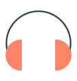 headphones silhouette icon vector image